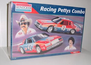 1981/1982 Richard and Kyle Petty 1/24th #42 STP Buick and #43 STP Pontiac model kit by Monogram