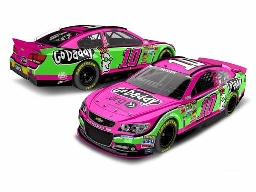 "2013 Danica Patrick 1/64th GoDaddy.com ""Pink"" Pitstop Series car"