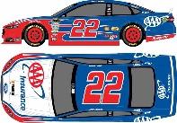 2013 Joey Logano 1/64th AAA Insurance Pitstop Series car