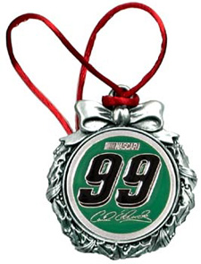 "2005 Carl Edwards ""Pewter"" Wreath Ornament"