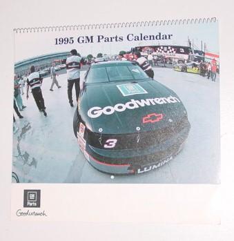 1995 Dale Earnhardt 10 X 11 GM Parts Calendar