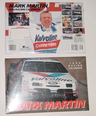 1996 Mark Martin 9 X 131/2 Valvoline calendar