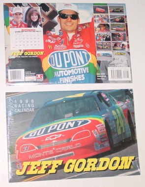 1996 Jeff Gordon 9 x 13/12 Dupont calendar