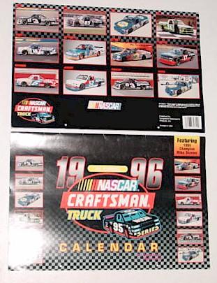 1996 NASCAR Craftsman Truck 11 x161/2 calendar