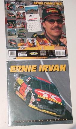 1997 Ernie Irvan 12 X 12 Texaco calendar