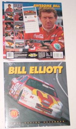1997 Bill Elliott 12 X 12 Mcdonalds calendar