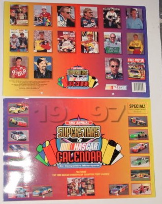 1997 NASCAR Super Stars 11 X 161/2 calendar