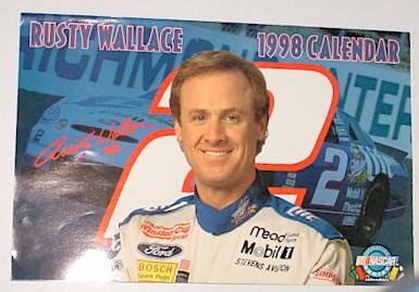 1998 Rusty Wallace Miller Lite 11 X 16 1/2 calendar
