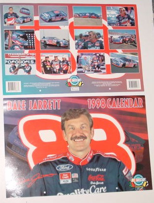 1998 Dale Jarrett Ford Quality Care 11 X 161/2 calendar