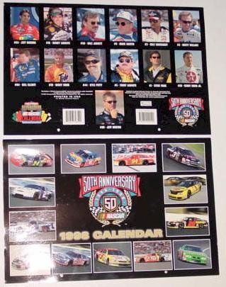 1998 NASCAR Super Stars 11 X 161/2 calendar
