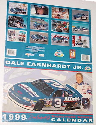 1999 Dale Earnhardt Jr AC Delco 11 X 161/2 calendar