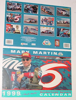 1999 Mark Martin Valvoline 11 x 16 1/2 calendar
