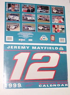 1999 Jeremy Mayfield Mobil 1 11 X 161/2 calendar