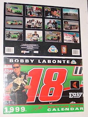 1999 Bobby Labonte Interstate Batteries 11 x 16 1/2 calendar