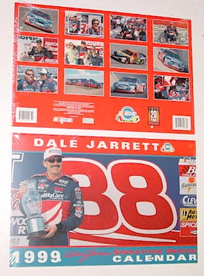 1999 Dale Jarrett Ford Quality Care 11 X 161/2 calendar