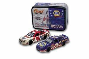 2001 Dale Earnhardt Jr/Michael Waltrip Pepsi 400 2 car tin set