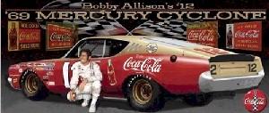 "1969 Bobby Allison 1/24th ""Coca Cola"" Mercury Cyclone car"